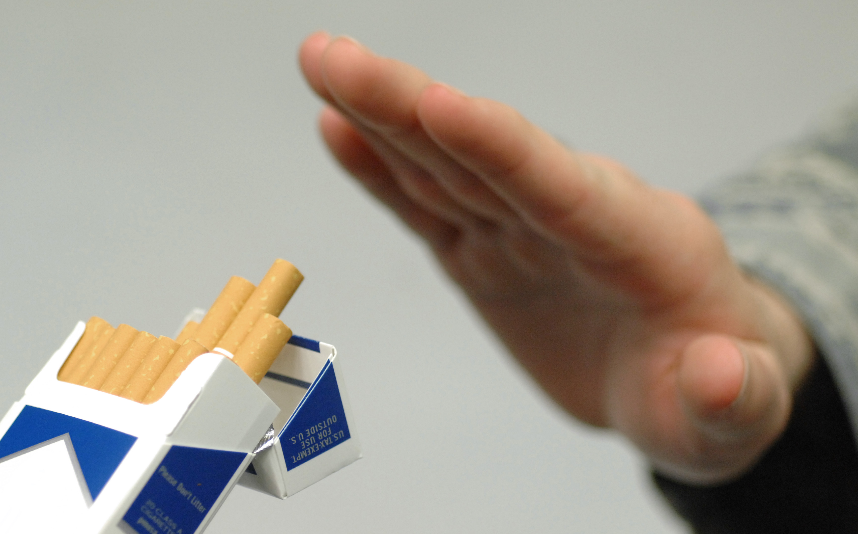 The casual acceptance of smoking was common place when the American Cancer Society's Great American Smokeout became nationwide more than 30 years ago. The first national Great American Smokeout was in November 1977. This quarter century has brought about dramatic changes in the way society views tobacco use. Approximately 46 million adults in the United States currently smoke, an estimated half will die prematurely from diseases considered smoking related.  November is also Tobacco Awareness Month.  Ramstein Air Force base's Health and Wellness Center hosts many ways for Airman and their family's to kick the habit, to include Smoking Speciation classes, Behavioral Classes and tobacco free nicotine substitutes to assist with cravings that may otherwise sabotage a smoker's attempt to quit. (U.S. Air Force illustration by Airman 1st Class Perry)